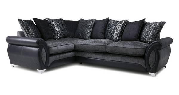 Oberon Right Hand Facing 3 Seater Pillow Back Corner Sofa