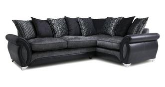 Oberon Left Hand Facing 3 Seater Pillow Back Supreme Corner Sofa Bed
