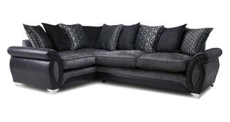 Oberon Right Hand Facing 3 Seater Pillow Back Deluxe Corner Sofa Bed