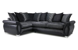 Right Hand Facing 3 Seater Pillow Back Deluxe Corner Sofa Bed Oberon