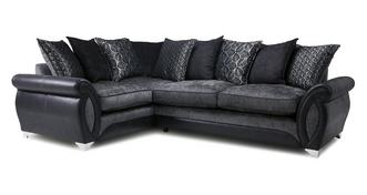 Oberon Right Hand Facing 3 Seater Pillow Back Supreme Corner Sofa Bed