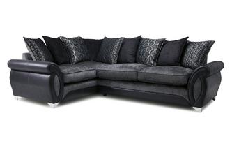 Right Hand Facing 3 Seater Pillow Back Supreme Corner Sofa Bed Oberon