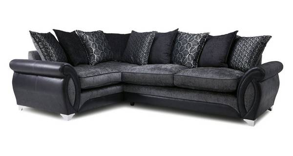 Oberon Right Hand Facing 3 Seater Pillow Back Supreme Corner Sofa Bed