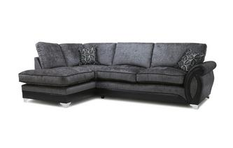 Right Hand Facing 3 Seater Formal Back Open End Corner Sofa Oberon