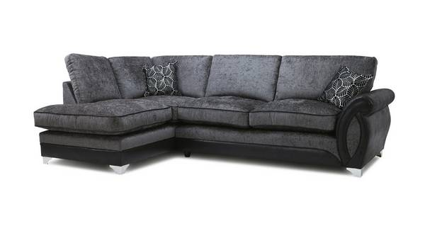 Oberon Right Hand Facing 3 Seater Formal Back Open End Corner Sofa