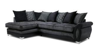 Oberon Right Hand Facing 3 Seater Pillow Back Open End Corner Sofa