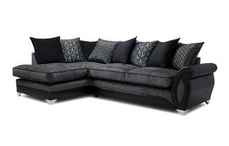 Right Hand Facing 3 Seater Pillow Back Open End Corner Sofa