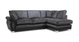 Oberon Left Hand Facing 3 Seater Formal Back Open End Corner Sofa