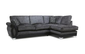 Left Hand Facing 3 Seater Formal Back Open End Corner Sofa Oberon