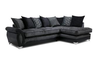 Left Hand Facing 3 Seater Pillow Back Open End Corner Sofa Oberon