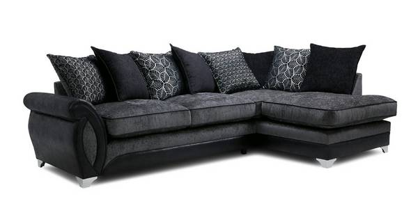 Oberon Left Hand Facing 3 Seater Pillow Back Open End Corner Sofa