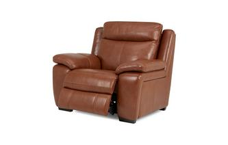 Handbediende recliner stoel Brazil with Leather Look Fabric