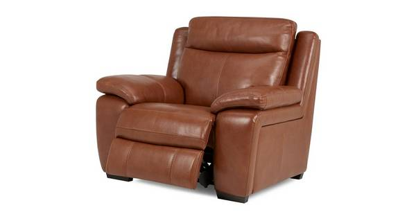 Octavious Leather and Leather Look Electric Recliner Chair