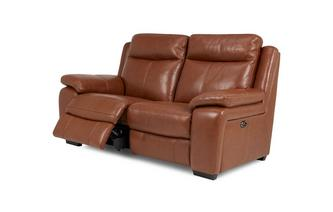 Leather and Leather Look 2 Seater Electric Recliner Brazil with Leather Look Fabric