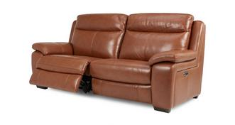 Octavious Leather and Leather Look 3 Seater Electric Recliner