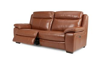3-zits elektrische recliner Brazil with Leather Look Fabric