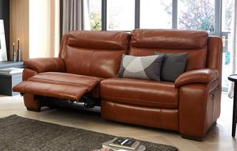 Octavious Leather and Leather Look 3 Seater Electric Recliner Brazil with Leather Look Fabric