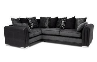 Pillow Back Right Hand Facing Supreme Corner Sofa Bed
