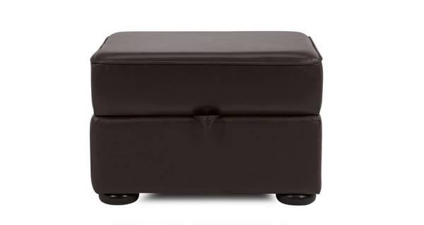 Opera Leather Storage Footstool