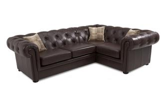 Leather Left Arm Facing 2 Piece Corner Sofa Brooke