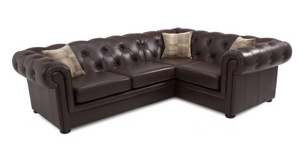 Opera Leather Left Arm Facing 2 Piece Corner Sofa