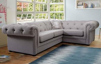 Opera Leather Left Arm Facing 2 Piece Corner Sofa Brooke