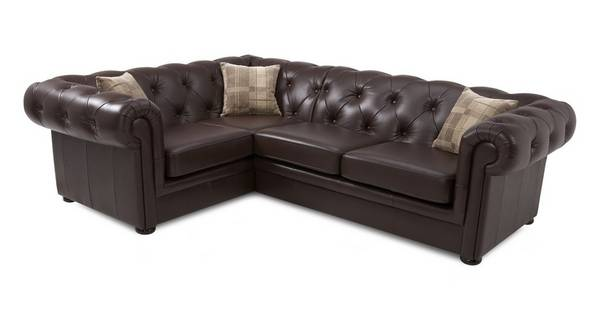 Opera Leather Right Arm Facing 2 Piece Corner Sofa