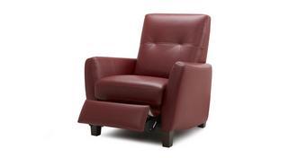 Orem Leder met lederlook  Handbediende recliner stoel