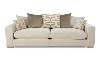 4 Seater Pillow Back Split Sofa Oslo
