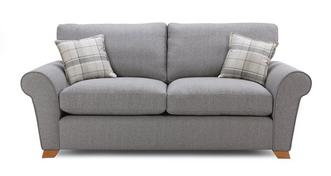 Owen Formal Back 3 Seater Deluxe Sofa Bed