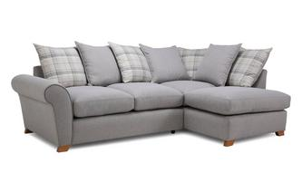 Pillow Back Left Hand Facing Arm Corner Sofa