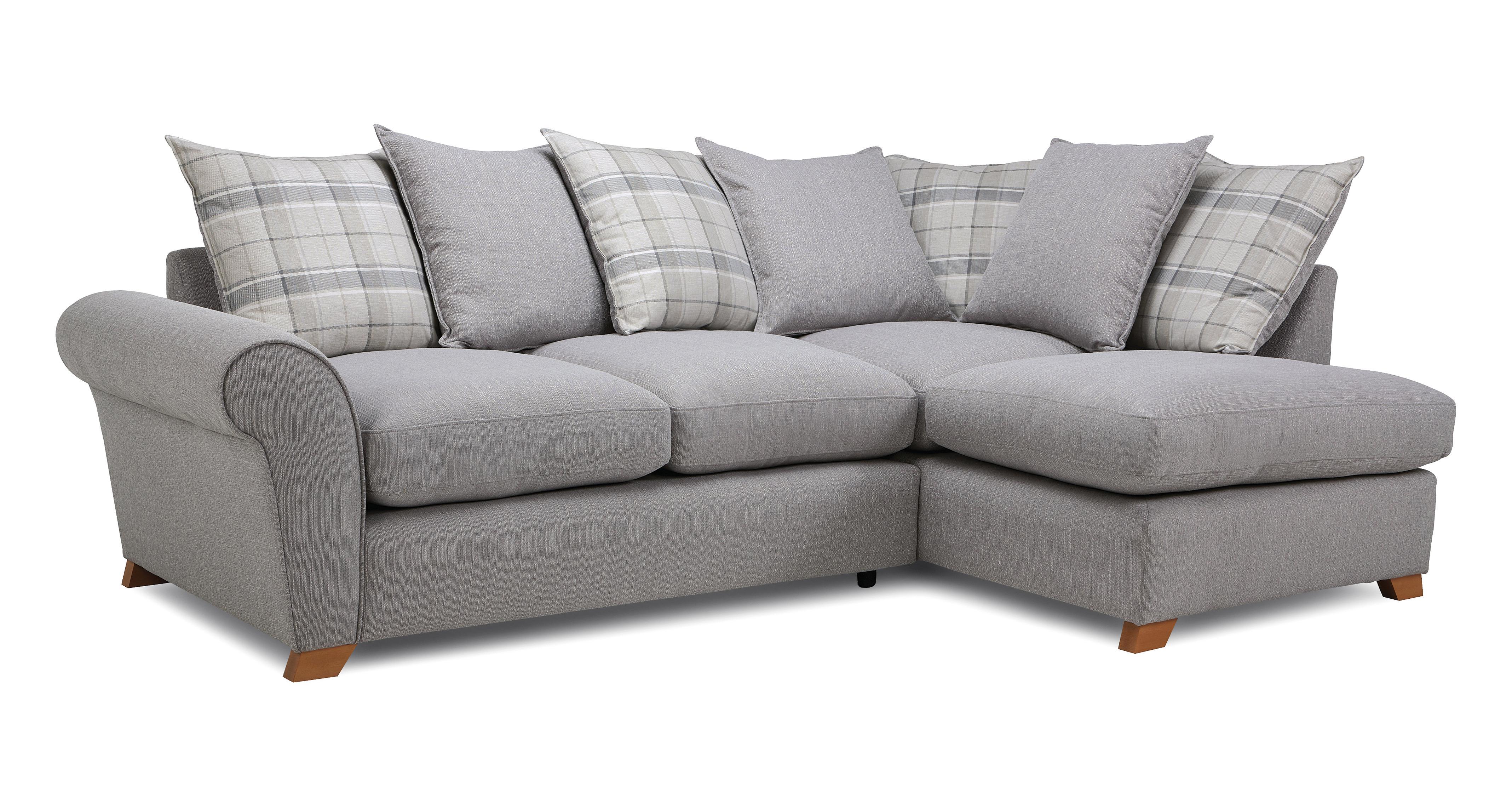 Owen: Pillow Back Left Hand Facing Arm Corner Sofa