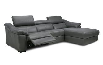 Right Hand Facing Double Power Sliding Chaise Sofa