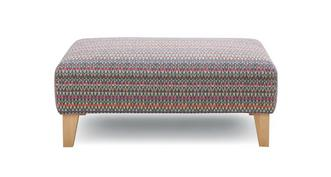 Pacha Pattern Banquette Footstool