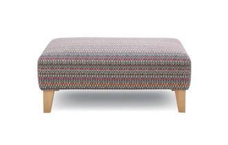 Pattern Banquette Footstool Pacha Scatter
