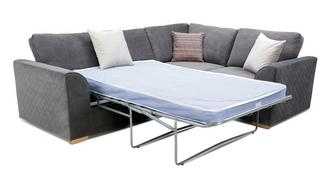 Pacha Left Hand Facing 2 Seater Deluxe Corner Sofa Bed
