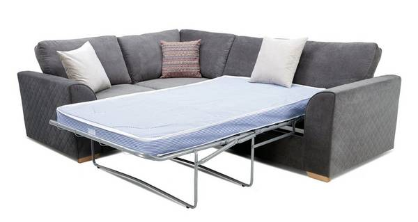 Pacha Right Hand Facing 2 Seater Deluxe Corner Sofa Bed