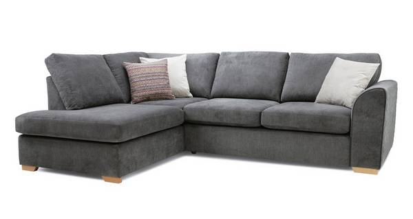 Pacha Right Hand Facing Arm Open End Deluxe Corner Sofa Bed Plaza Dfs