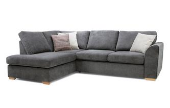 Right Hand Facing Arm Open End Deluxe Corner Sofa Bed