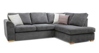 Pacha Left Hand Facing Arm Open End Deluxe Corner Sofa Bed