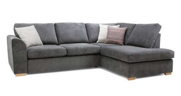 Pacha Left Hand Facing Arm Open End Deluxe Corner Sofa Bed