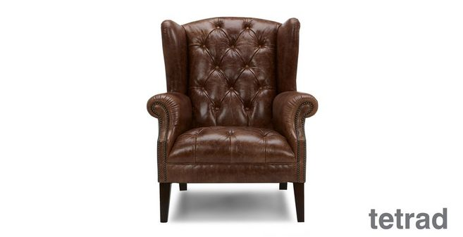 Merveilleux Palace: Leather Wing Chair