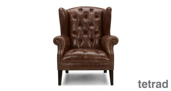 Palace Leather Wing Chair