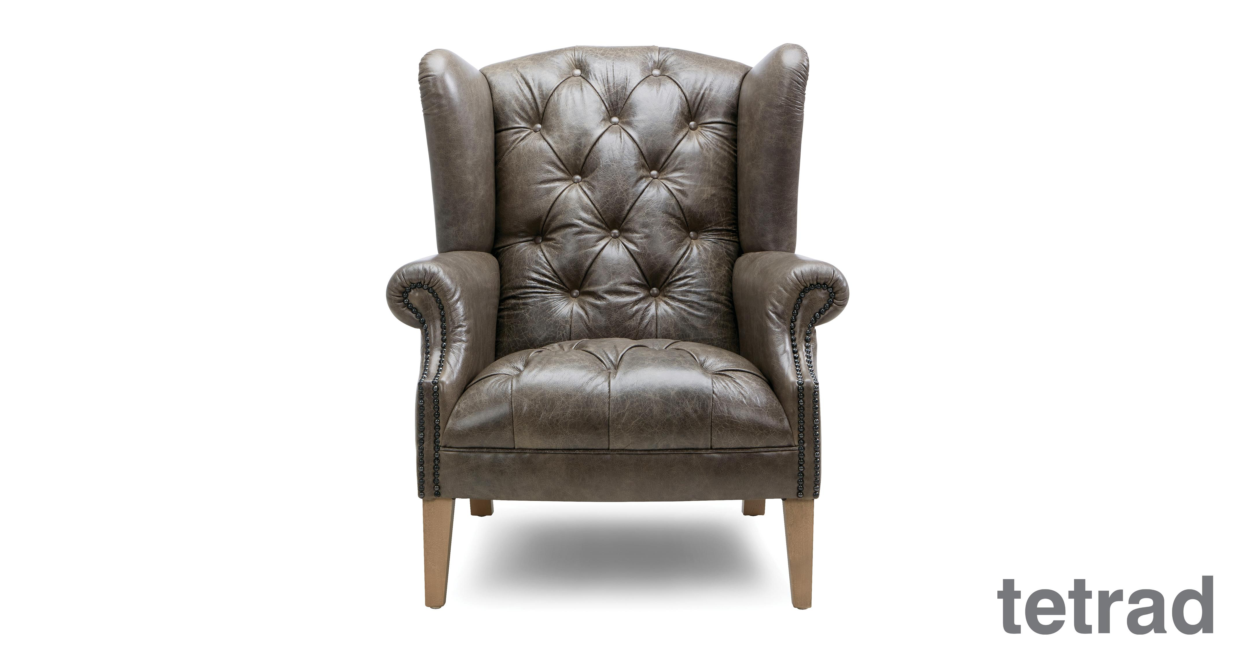 About The Palace Leather Wing Chair