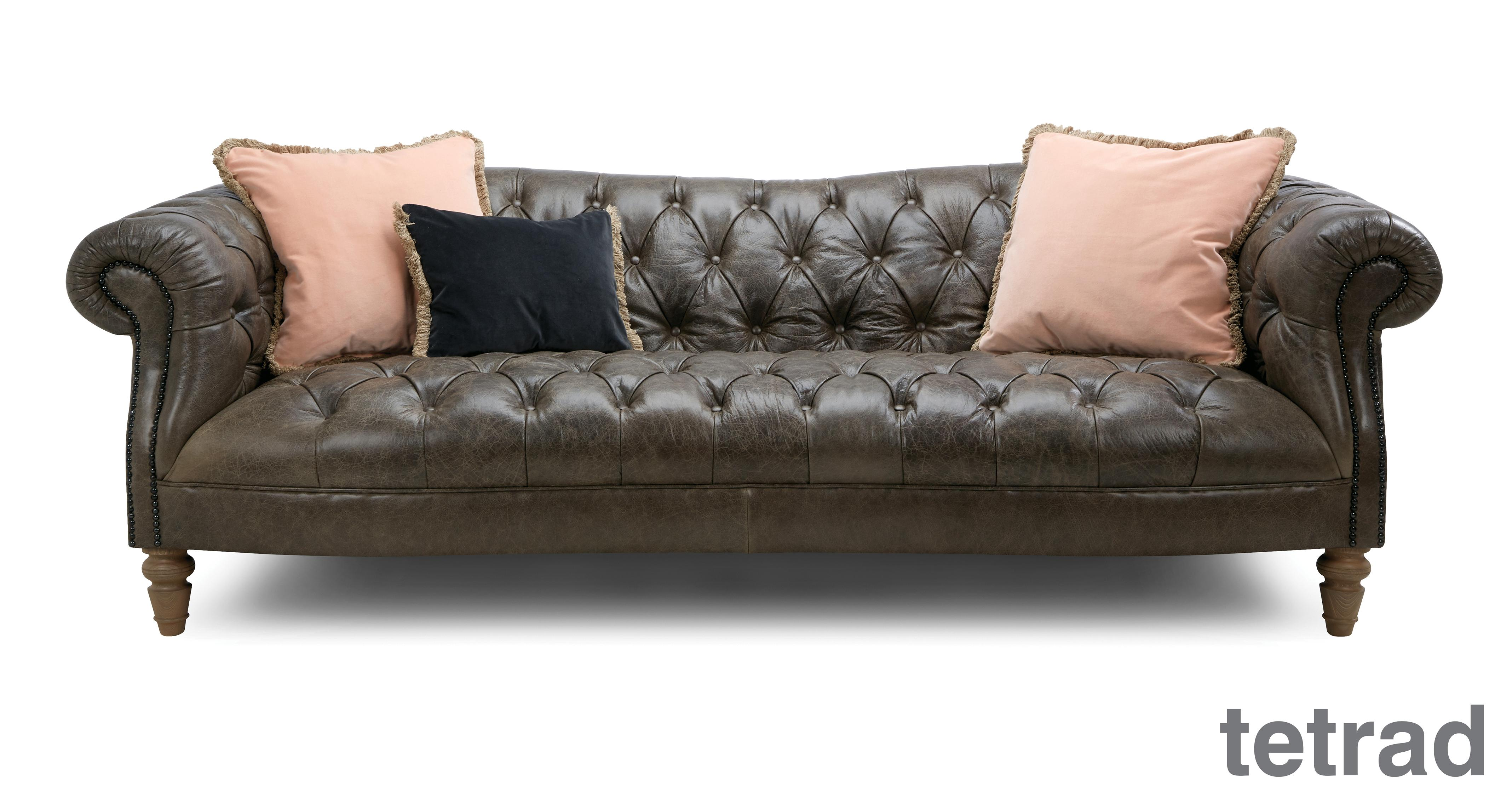 Palace: Leather 4 Seater Sofa