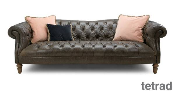 About the Palace: Leather 4 Seater Sofa