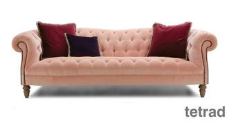 Palace Velvet 4 Seater Sofa