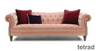 Palace Velvet 4 Seater Sofa