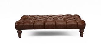 Palace Leather Rectangular Footstools