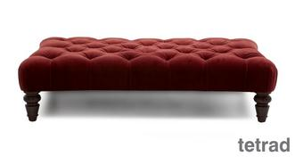 Palace Velvet Rectangular Footstools